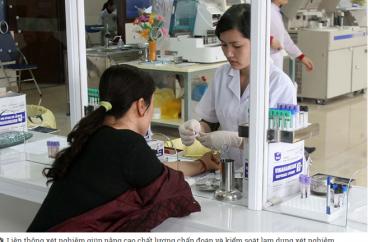 40 bệnh viện đầu tiên thực hiện liên thông xét nghiệm